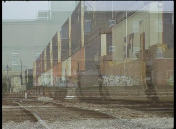 Still from John Warren's video loop,The Gulch, 2015.