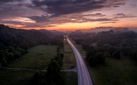 Natchez Trace Sunset, by Jo Fields