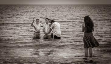 C. Al Wood, Ocean Baptism